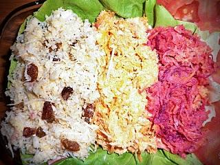 Salata de cruditati in 3 culori