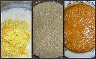 Budinca de orez cu zahar ars