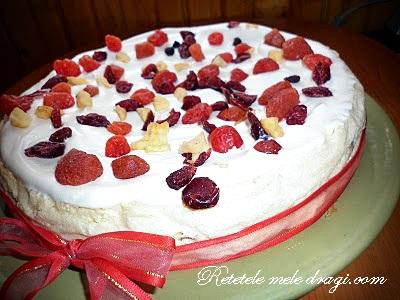 Cheesecake cu fructe confiate