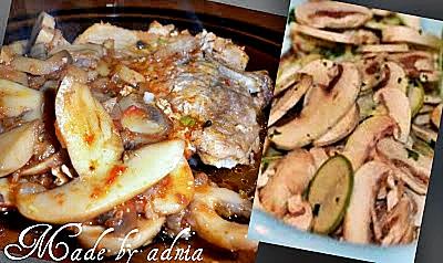 cotlet de porc cu ciuperci