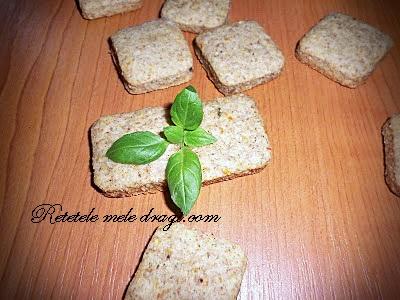 Biscuiti cu legume deshidratate