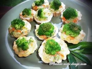 Mini tarte cu legume