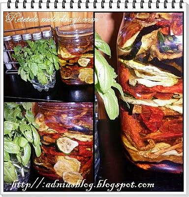 Legume deshidratate in ulei de masline