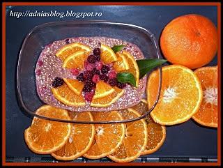Un desert perfect:Budinca de quinoa cu fructe