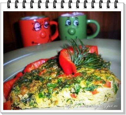 omleta cu leurda si ardei gras la cuptor1