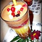 Milkshake cu banane si capsuni