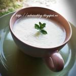 Supa-crema de dovlecei cu branza de oi si menta--reteta la steamer
