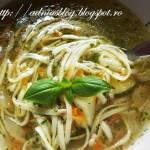 Supa de legume cu taiatei de casa