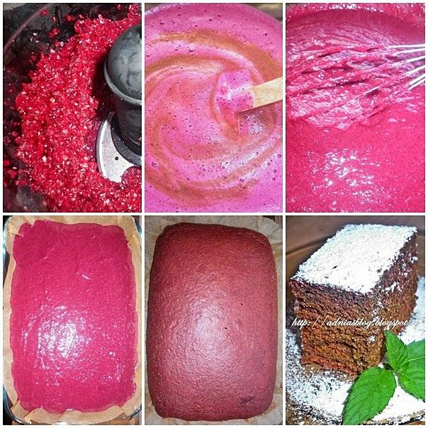 Prajitura fina cu sfecla rosie