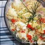 Salata calda de conopida picanta