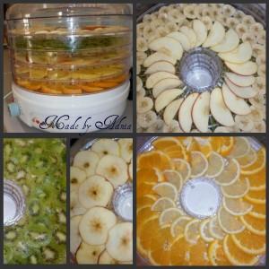 Deshidratarea fructelor si a legumelor: chipsuri din fructe