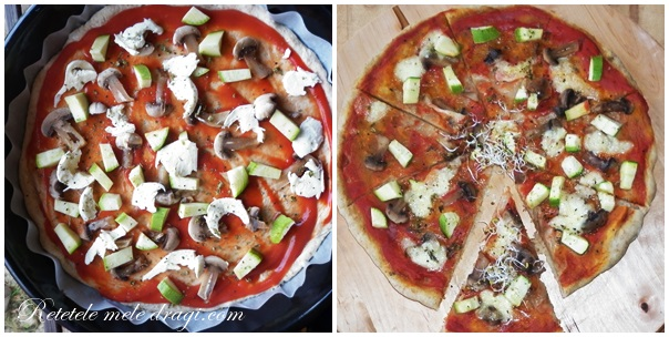 Pizza vegetariana cu germeni
