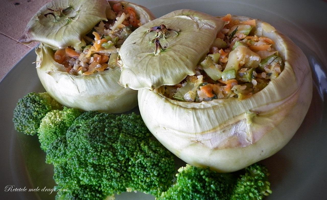 Gulii umplute cu legume si seminte