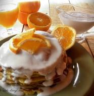 Pancakes cu portocale