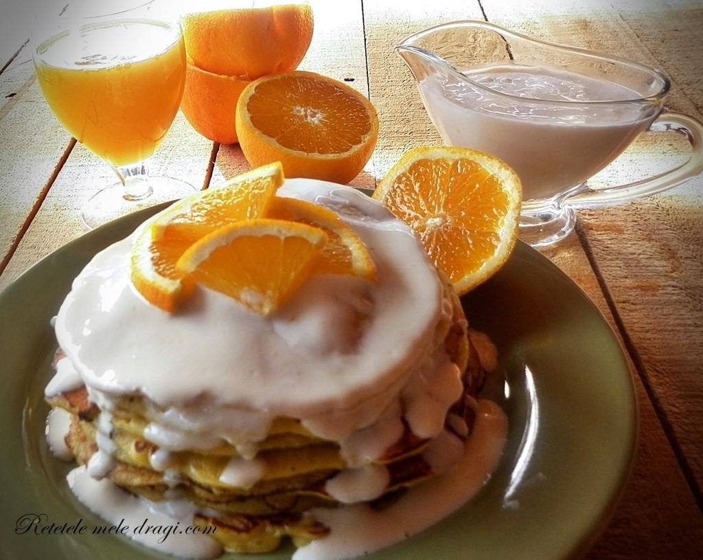 Pancakes cu portocale retetele mele dragi