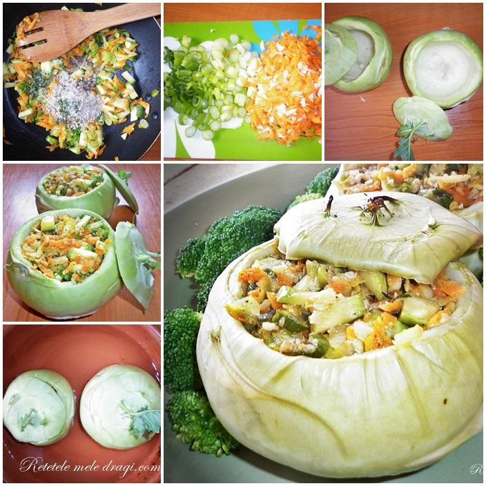 Preparare Gulii umplute cu legume si seminte