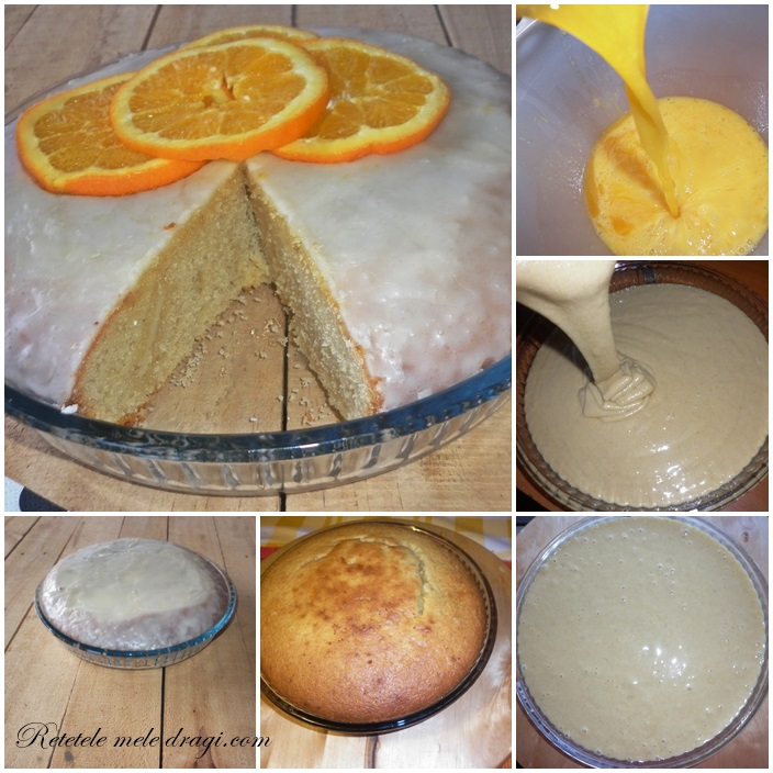 preparare pandispan cu portocale