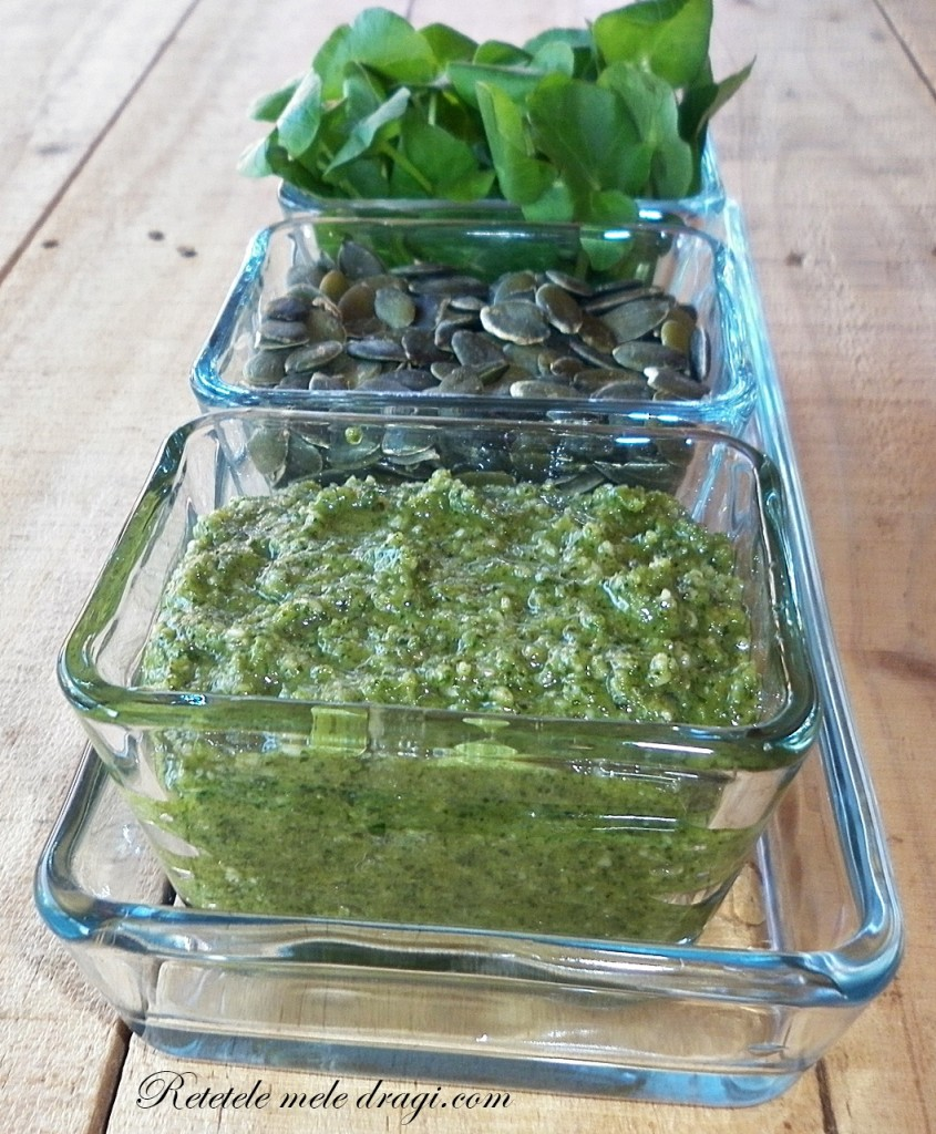 Pesto de untisor si papadie