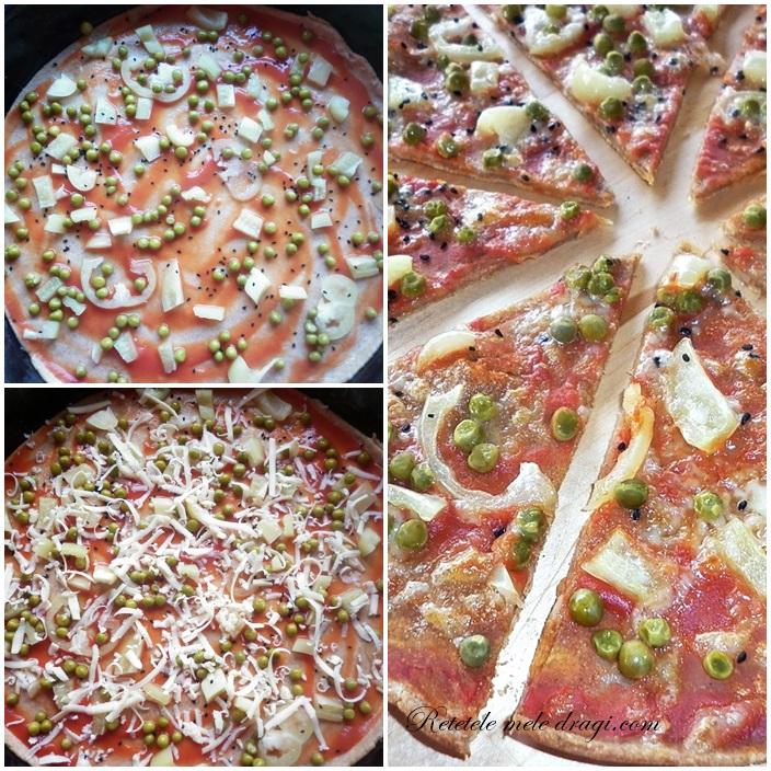 Pizza cu legume si seminte de Nigella