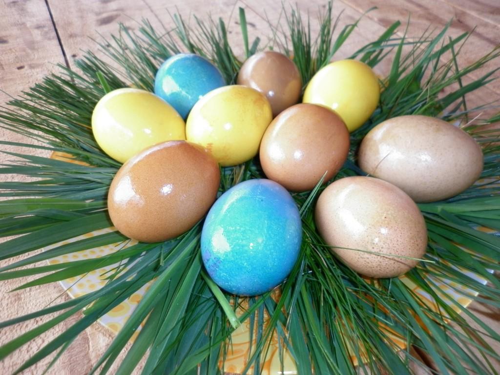 oua de Paste colorate in mod natural