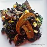 Salata de orez negru cu ciuperci1