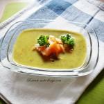 Supa de salata cu somon afumat