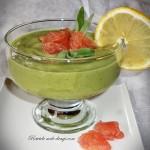 Crema de avocado cu grapefruit si salvie