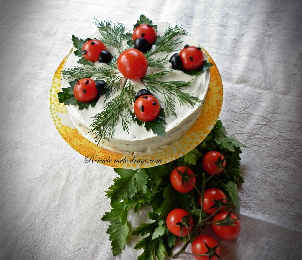 Tort aperitiv cu dovlecei