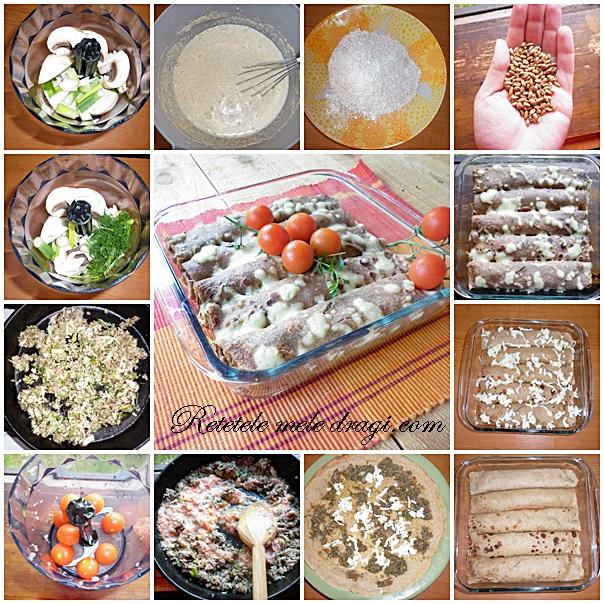 Clatite integrale cu ciuperci