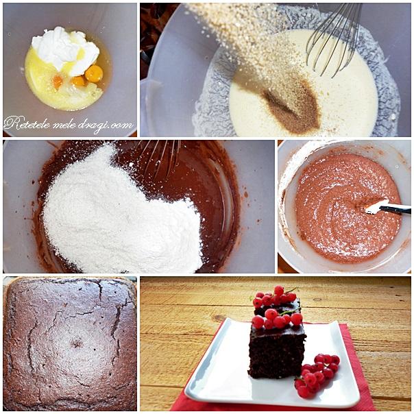 prajitura cu cocos si cacao