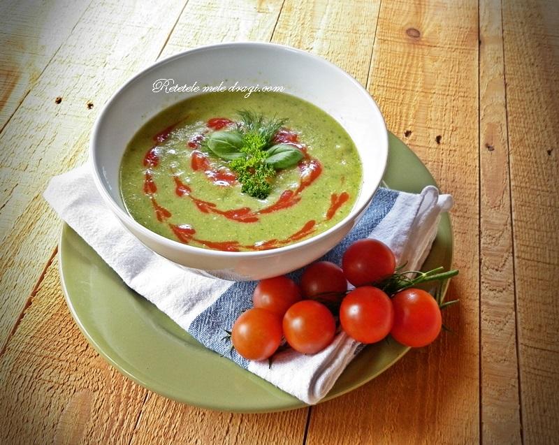 Supa de mazare cu verdeturi