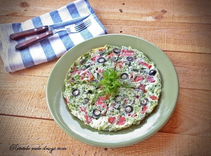 Omleta din albus cu legume la cuptor