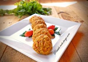chiftelute de somon cu legume1