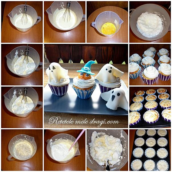 Cupcakes cu branza preparare