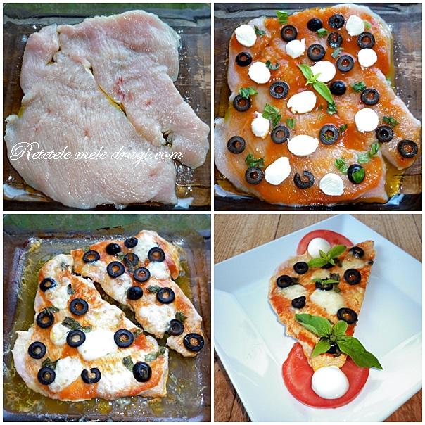 Pizza pe blat de curcan preparare