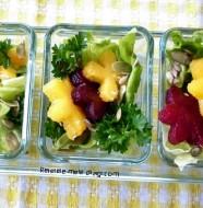 Salata cu dovleac si sfecla rosie
