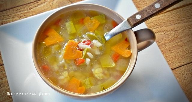 Supa de orez cu legume
