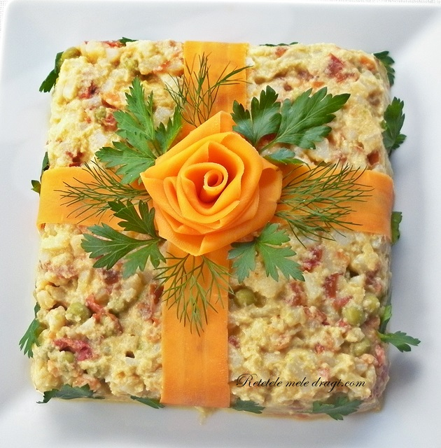 Salata a la Russe cu maioneza fara ou