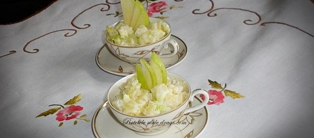 Salata de cartofi, telina si mere