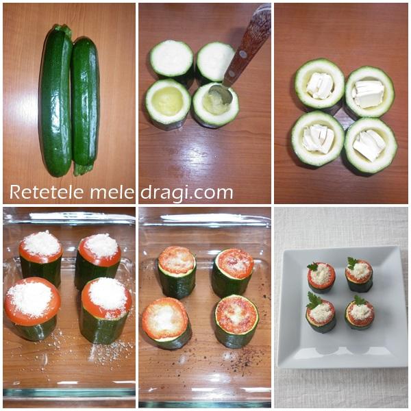 Zucchini cu branza albastra si parmezan