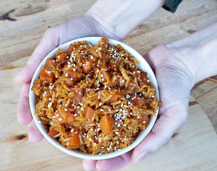 Orez tailandez cu dovleac si curry rosu
