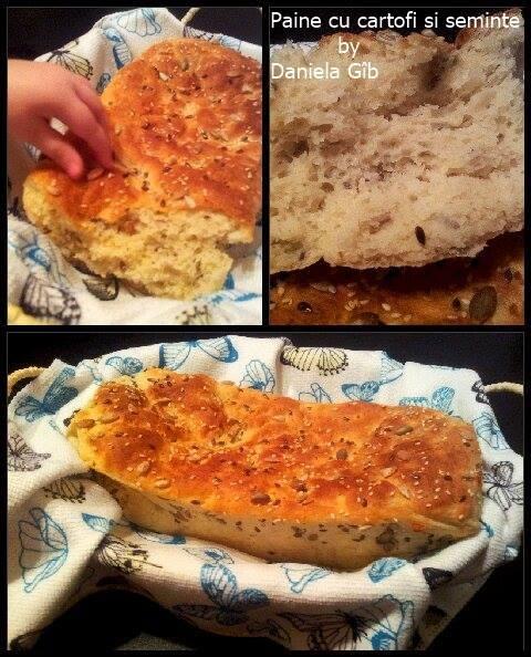 paine cu cartofi si seminte de la Daniela Gîb