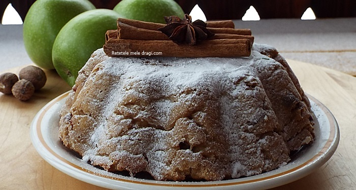 Prajitura cu mere verzi si ghimbir