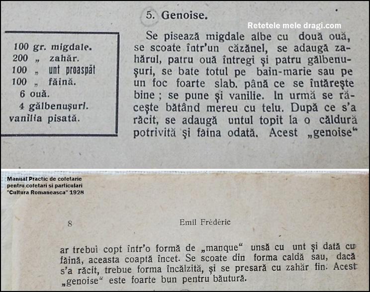 reteta originala blat Genoise