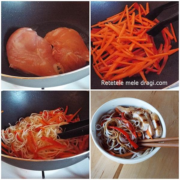 Salata tailandeza cu pui si legume