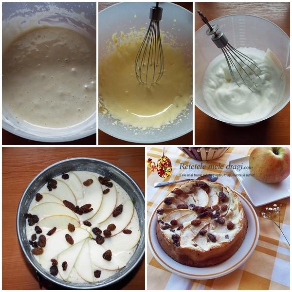 Prajitura cu mere (Apfelkuchen) preparare