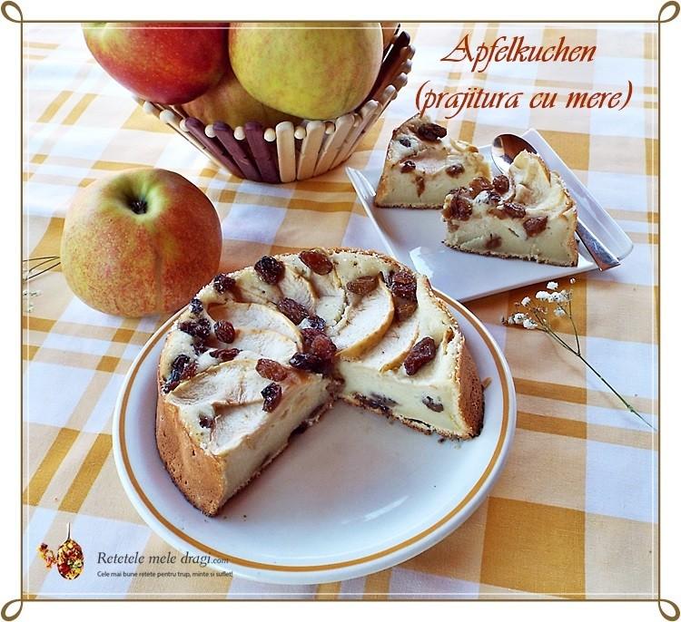 Prajitura cu mere (Apfelkuchen)