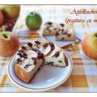 Prajitura cu mere Apfelkuchen2