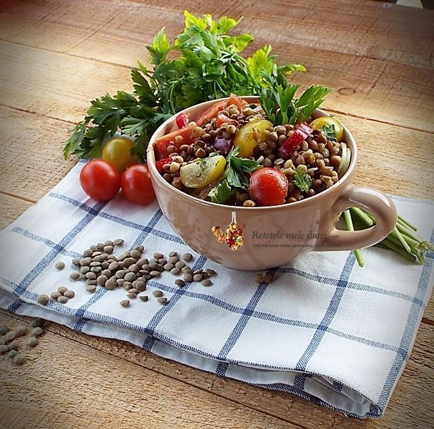 Salata de linte cu legume