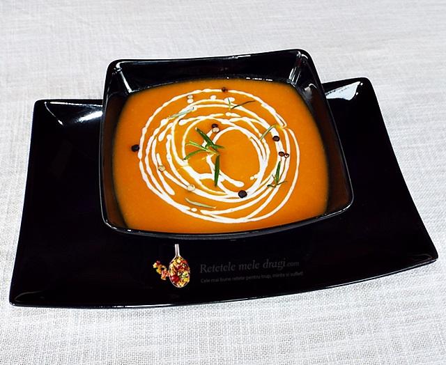 Supa de cartof dulce cu porumb